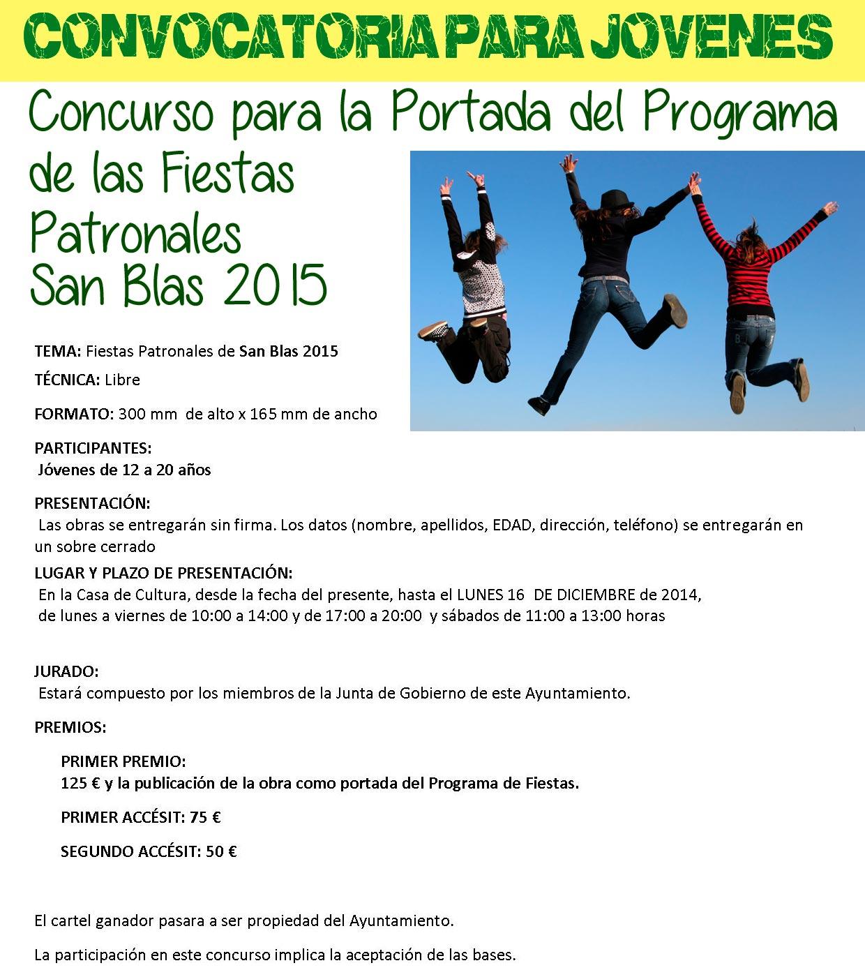 Concurso Portada Programa fiestas San Blas