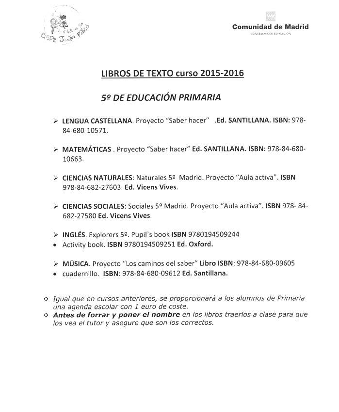 Libros Colegio Juan Falcó