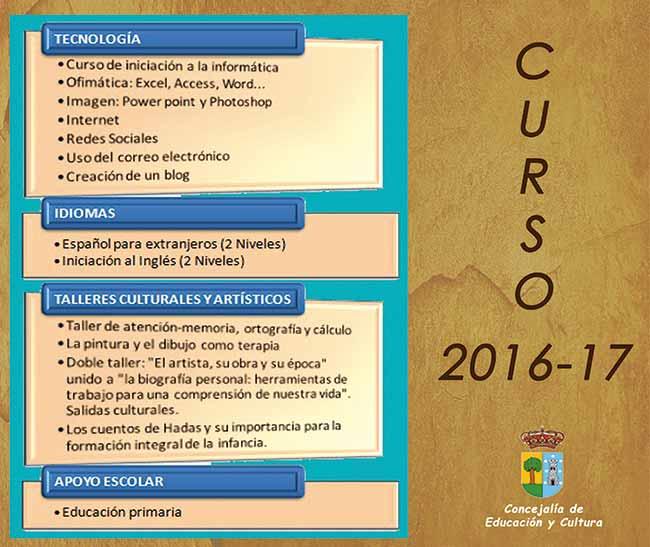 Escuela adultos Valdemorillo curso 2016-17