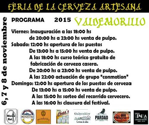 programa feria Cerveza Artesanal Valdemorillo