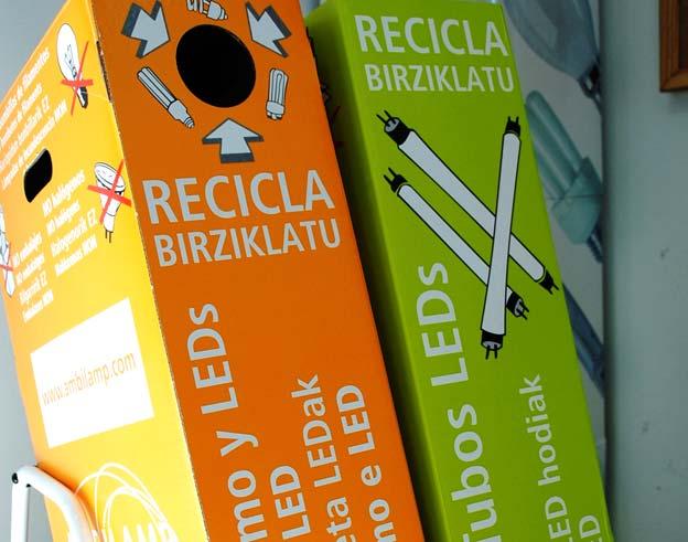 reciclaje de bombillas Valdemorillo