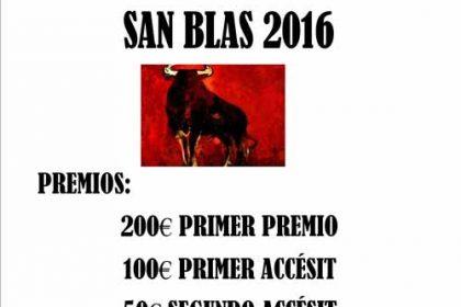 concurso cartel taurino fiestas san blas 2016