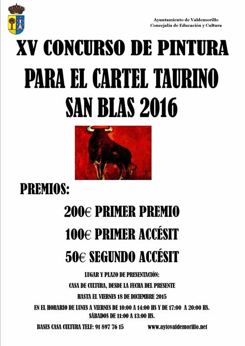 Concurso Carteles Fiestas San Blas 2016 Valdemorillo