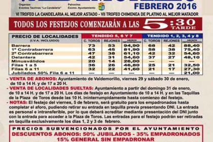 localidades toros San Blas 2016