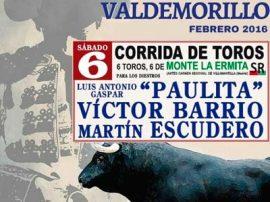 Cartel Toros Valdemorillo San Blas 2016