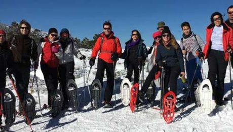 Excursión raquetas de nieve Valdemorillo