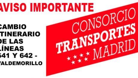 itinerarios y paradas autocares Beltran Valdemorillo