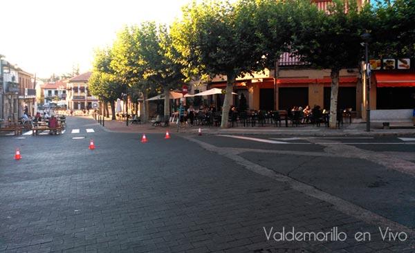 obras calle principal Valdemorillo