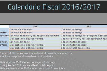 calendario fiscal 2016-17 Valdemorillo
