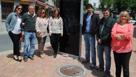 Panel informativo en Valdemorillo