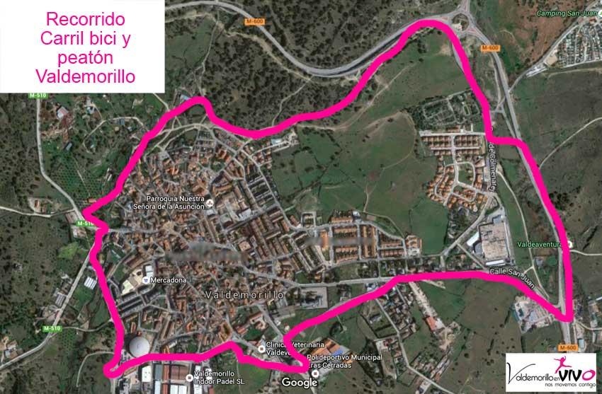 recorrido carril bici Valdemorillo