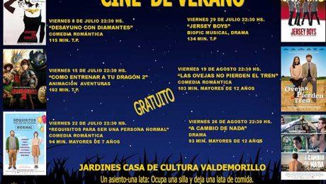cartelera cine verano Valdemorillo 2016