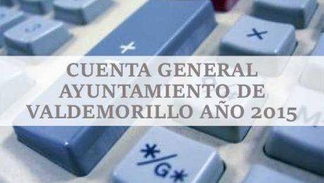 cuenta general ayuntamiento Valdemorillo 2015