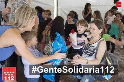 campaña gente solidaria 112