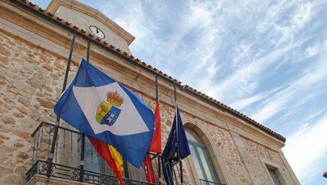 bandera media asta Valdemorillo