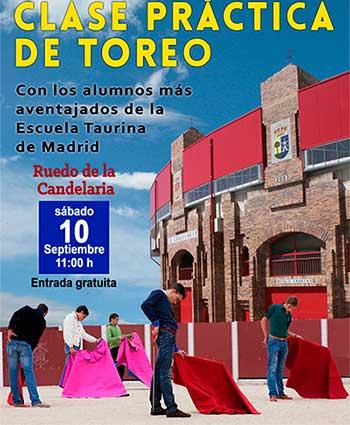 clases toreo Plaza Candelaria Valdemorillo