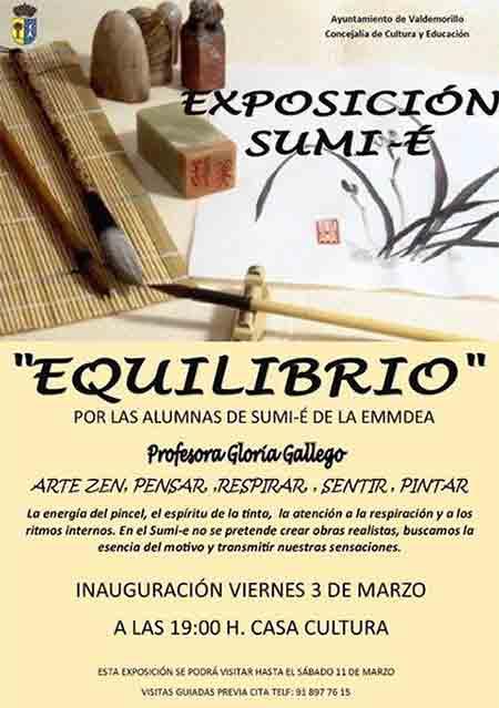 exposición sumi-e casa cultura Valdemorillo