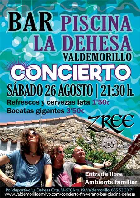 concierto Zree piscina Valdemorillo