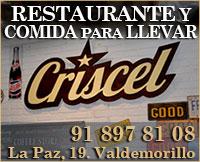 Criscel restaurante y comida llevar Valdemorillo ad