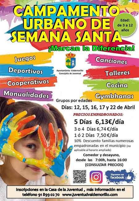 campamento urbano semana santa Valdemorillo 2019