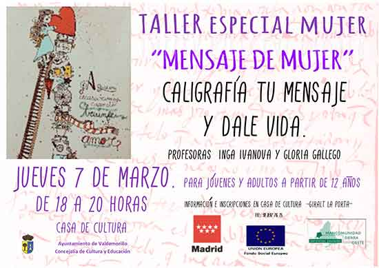 actividades mujer 2019 Valdemorillo